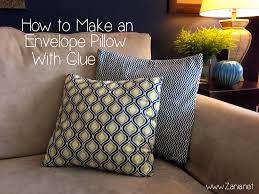Make An Envelope How To Make An Envelope Pillow With Glue Zania