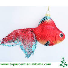 colored tropical glass fish shaped ornaments wholesales