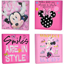 minnie mouse light canvas wall art bonus led lights