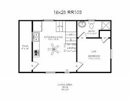 small house layout 16x24 pennypincher barn kits open floor image result for 22 x 33 one bedroom industrial loft floor