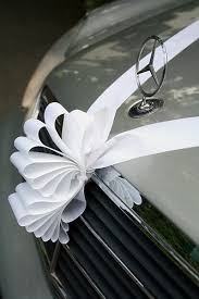 car ribbon mercedes wedding car ribbon bow décoration de voiture