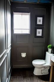 Powder Room Makeovers Photos - reveal dated powder room gets a moody makeover pink little