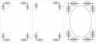White Decorative Branches Set Of Original Vector Black U0026 White Decorative Frames Laurel