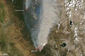 California Wildfire Smoke Map by California Burning The View From Outer Space Pictures