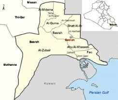 basra map map of basra iraq travel maps and major tourist attractions maps