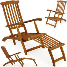 wooden deck chair designs