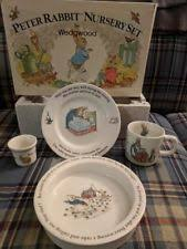 wedgwood rabbit nursery set wedgwood egg cup rabbit ebay