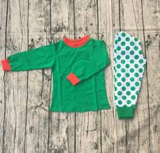 boutique sleeve knit pajamas children baby