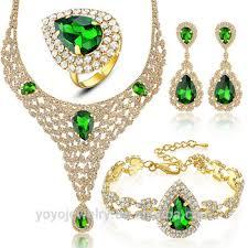cubic zirconia necklace set images Full set cubic zirconia necklace turkish indian style jewelry set jpg