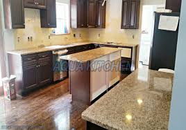 The Kitchen Design Center Giallo Ornamental Granite For Warm Kitchen Design