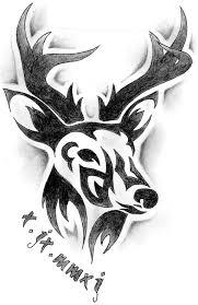 tribal deer skull designs tribal deer design by
