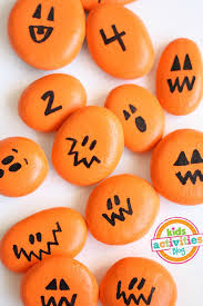 painted pumpkin rocks for play painted pumpkins math games and