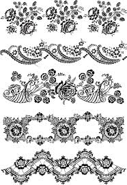 flower ornament elements vector vector graphics