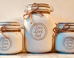 kitchen canisters etsy