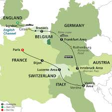 Map Of England And France by Cosmos Tours Six Countries Venice U0026 Paris 2016 Sold Out