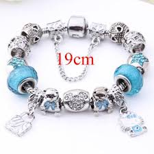 murano glass beads bracelet silver images Cute children cat hello kitty charms bracelet for kids girls jpg