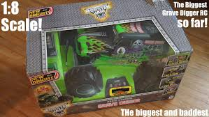 monster trucks grave digger toy unboxing 1 8 scale rc new bright monster jam truck grave