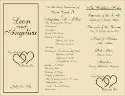 wedding program outline template free printable wedding programs templates sle wedding