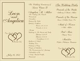downloadable wedding programs free printable wedding programs templates sle wedding