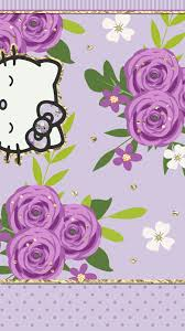 wallpaper hello kitty violet iphone wall hk tjn iphone walls 4 pinterest hello kitty