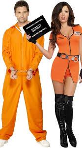 Womens Prisoner Halloween Costume Jumpsuit Couples Costume Men U0027s Bad Boy Convict Costume Orange