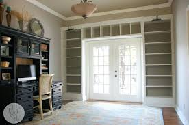 built in bookcases custom around fireplace made to look