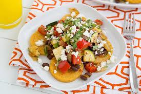 cuisine polenta baked polenta with sautéed veggies salsa beans recipe