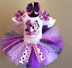 1st birthday tutu baby minnie sparkle white purple 1st birthday tutu