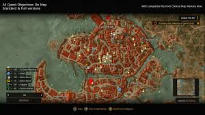 Warcraft 3 Maps All Quest Objectives On Map At The Witcher 3 Nexus Mods And