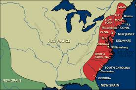 colonial america map a bio of america growth and empire maps