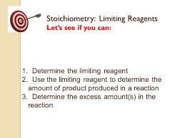 it u0027s time to learn about stoichiometry limiting reagents at