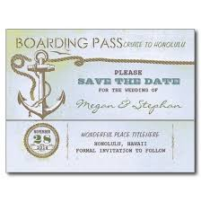 Nautical Save The Date Boarding Pass Save The Date Ticket Postcard