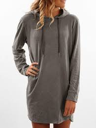 casual dresses gray xl mini long sleeve hoodie dress gamiss