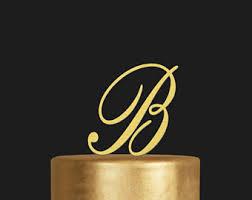letter wedding cake toppers letter cake topper etsy