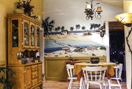 commissioned painting murals illustrations pet portraits dining room mural done in an individual s home
