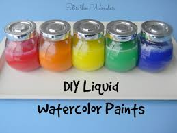 diy liquid watercolor paint stir the wonder