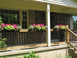 all weather redwood flower planter box for windows balconies or
