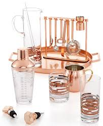 martha stewart collection copper barware collection only at