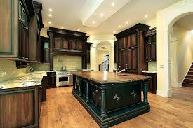 Maple Finish Kitchen Cabinets Bathroom Comely Stained Kitchen Cabinets Home And Design Gallery