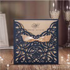 cheap fall wedding invitations 2017 new ribbon bow knot wedding invitation card vintage laser cut