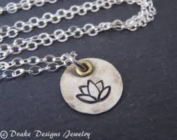flower necklace etsy images Water lily necklace etsy jpg