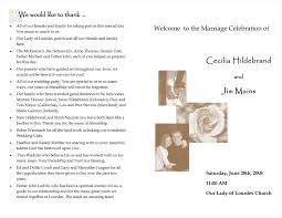 christian wedding programs wedding programs ideas sles topweddingservice