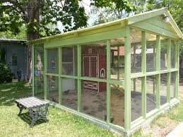 our chicken run converted from an old greenhouse the armoire