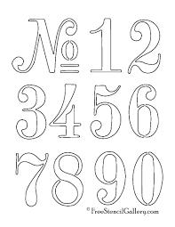 numbers stencil u2026 pinteres u2026