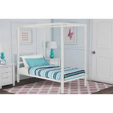 Ebay Twin Beds Dhp Modern Metal Twin Canopy Bed In White Ebay