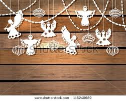 Christmas Decorations Paper Angels merry christmas card angels decorations paper stock vector