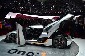 koenigsegg one 1 koenigsegg one 1 doors ajar at geneva motor show indian autos blog