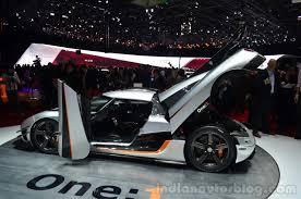 koenigsegg one 1 koenigsegg one 1 doors ajar at geneva motor show indian autos blog
