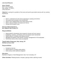 sample line cook resume cook resume examples resume sample for a