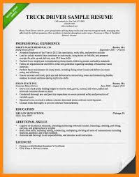 Resume Templates For Truck Drivers 8 Truck Driver Resume Exles Graphic Resume